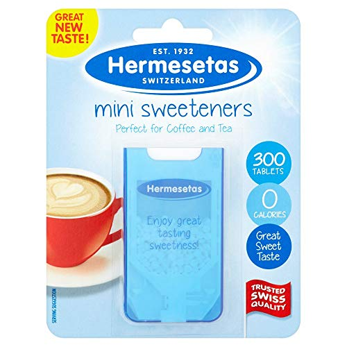 12 x Hermesetas Mini Sweeteners 300 Tablets 4.5g