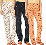 Peach Blossom Women's Cotton Pajama (Pack of 3) (wpant-panda-pinktriangle-anchrnavy_Multicolored_XX-Large)