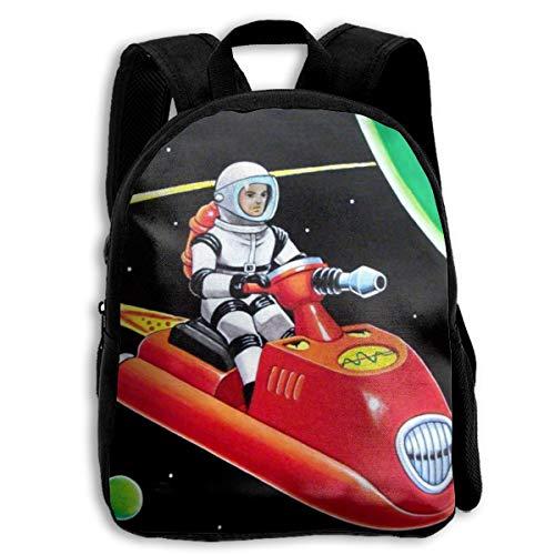 Dingtucailiao Space Scooter Cool Casual Popular Daypack para viajes, lindo bolso escolar mochila para niños y niñas, color negro