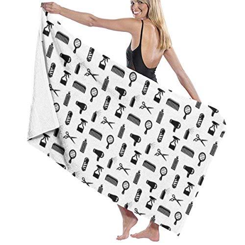 AllenPrint Bath Towel,Toalla De Baño para Peluquería Y Peluquería, Toallas De Playa Suaves Y Livianas para Piscina, Gimnasio, Viaje,80x130cm