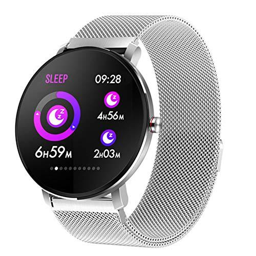 QAK K9 Touch Full Sports Men's Y Pulsera Inteligente para Mujer Tasa del Corazón Monitoreo del Sueño Silicone Strap Ip68fang Water Bluetooth Music Watch para Android iOS,E