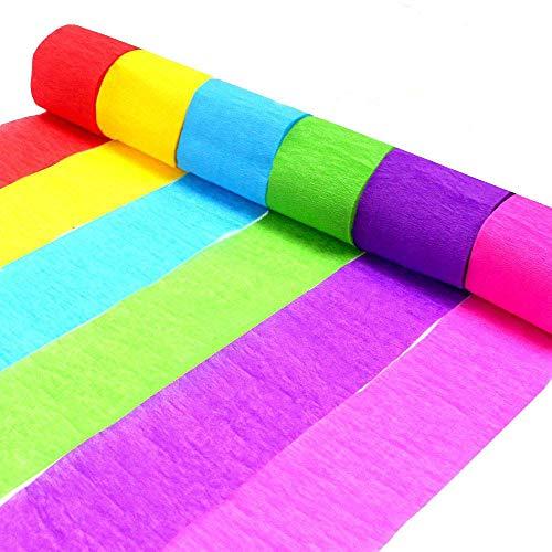Krepppapier-Luftschlangen, dekorative Seidenpapier-Rolle, DIY Papier Pom Poms Dekorationen