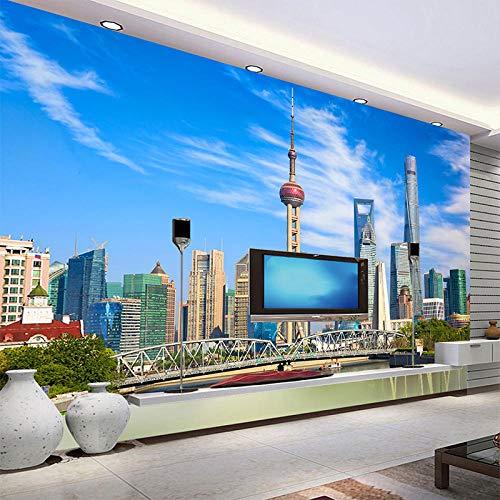 ZJfong Fotobehang, moderne architectuur, Oosterse Pearl Landscape muurschildering, woonkamer, slaapkamer, 3D 220x140cm