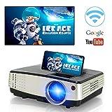 Mini proiettore Wifi portatile Supporto 1080P Proiettore LED LCD Proiettore Home Cinema LCD 50000 ore Vita LED, HDMI / VGA / AV / USB / per Home Entertainment