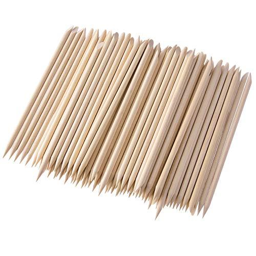 200 Pièces Bâtons de Bois, Bâton de Manucure de l'Ongle Double Face Multifonctionnel Bâton de Cuticule Outil de Pédicure à la Manucure