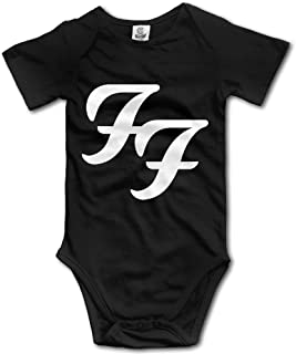 Foo Fighters Rock and Roll Primary Logo Baby Onesie Bodysuit