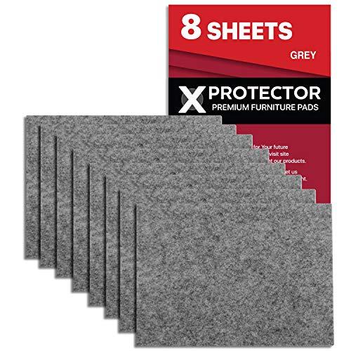 Feltrini adesivi X-PROTECTOR – 8 Feltrini per mobili di 5mm – Kit feltrini grigio – Feltrini divano e altri mobili – Top feltrini resistenti per fissare i mobili contro i danni!
