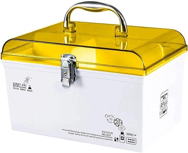 GLJJQMY Boîte à pilules Trousse de Premiers Soins familiale Boîte de RangeHommest de médicaHommests médecine familiale portable Boîte à médicaHommests pour Enfants Orange Boîte de Stockage de médicaHommest