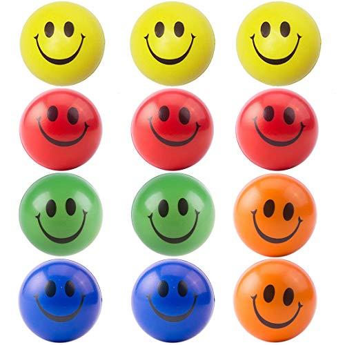 Emoji Anti-Stress Ball Stressball Streßball Smiley Knautschball Antistressball Hand Übung Stress Bälle Für Die Erleichterung Stress Angst 12 Stücke