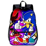 Mochila Infantil 3D mochila escolar Shadow the Hedgehog Adecuado para: estudiantes de primaria y secundaria, la mejor opción para viajes al aire libre Tamaño: 45x30x15 cm / 17 pulgadas mochila de v