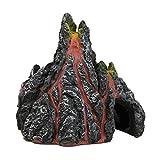 Homeilteds Volcán Volcán Acuario Artificiales de Resina Decoración del Acuario Ornamento Piedra de la Roca Durable (Color : Volcano, Size : 12x10x12cm)