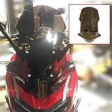 LongGreat ホンダ Honda ADV 150 2019 2020 スクリーン クリア ロング スモーク オートバイ スクリーン フロントガラス バイク 取付簡単 風防