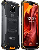 DOOGEE S68 PRO Outdoor Smartphone ohne Vertrag Android 9.0, Helio P70 Octa Core 6GB +128GB IP68/IP69K Wasserdicht Handy 4G, 21MP+16MP Kameras, 6300mAh 5,9 Zoll FHD+, NFC Kabelloses Laden, Orange
