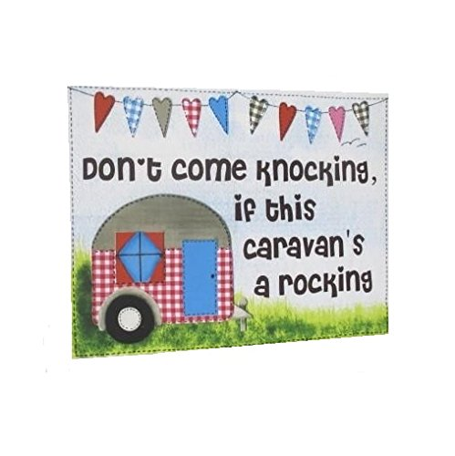 Caravan Tea Towel 'Don't Come Knocking If This Caravan's A Rocking'
