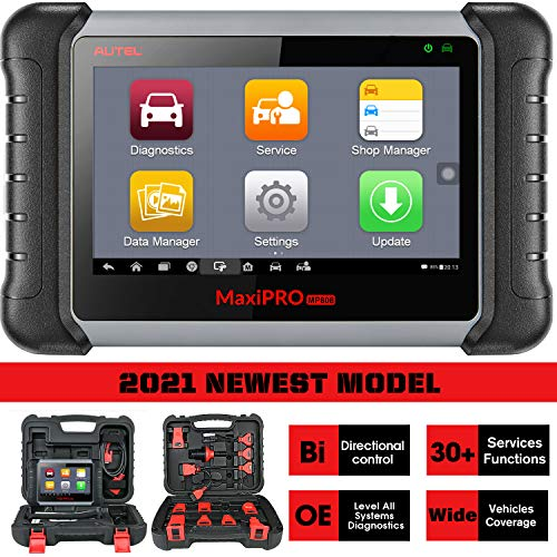 Autel MaxiPro MP808K 2021 Newest OE-Level Diagnostic Scan Tool with Bi-Directional Control, 30+ Services, Injector Coding, Oil Reset, EPB, BMS, SAS, DPF, ABS Bleed, Same Function as MS906/DS808K