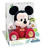 Clementoni- Animales de Cine y Television Peluche Juega y aprende Mickey, Color roja (65191.7)