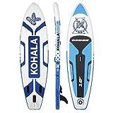 Tabla de Paddle Surf Sunshine Color Blanco y Azul - Tipo Beginner - Capacidad Máxima 120 kg - Aletas 3 (2+ 1)
