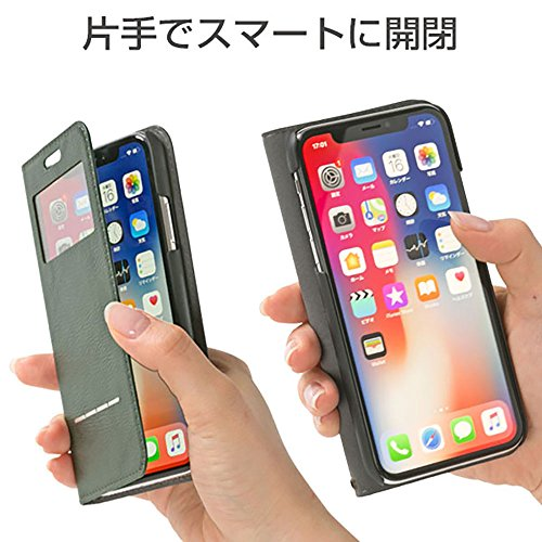 CERTAFLIP窓付きiPhoneXS/Xケース手帳型[キャメル]