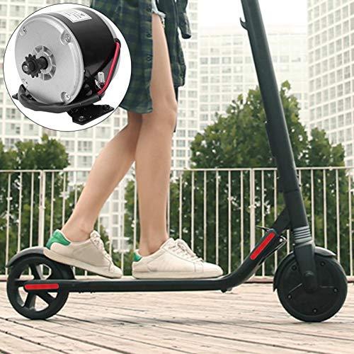 FOLOSAFENAR Motor Cepillado eléctrico DC de imán Permanente Motor Cepillado MY1016 de Alta Velocidad, con Soporte, para Bicicleta eléctrica, Scooter