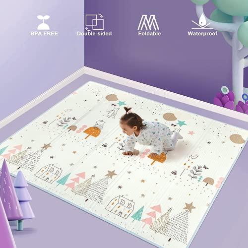 Uanlauo alfombra bebe, Alfombra de Juego, 180 * 200 * 1cm Alfombra Niños Alfombra de Juegos de...