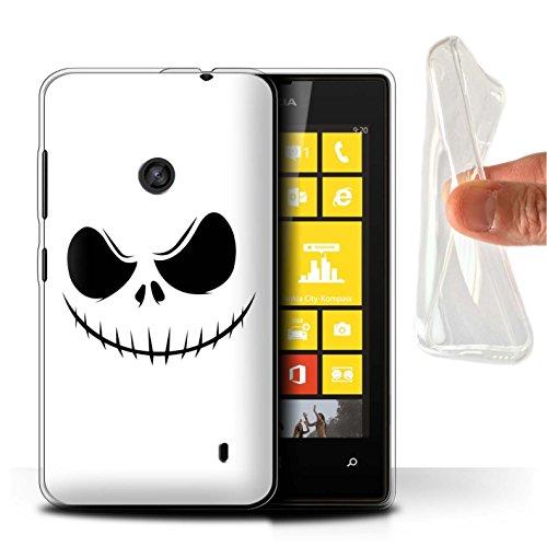 Hülle Für Nokia Lumia 520 Grusel Filmkunst Jack Skellington Inspiriert Kunst Design Transparent Dünn Weich Silikon Gel/TPU Schutz Handyhülle Case