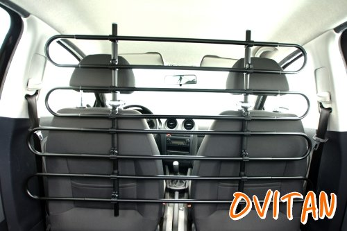 OVITAN Hundegitter fürs Auto 8 Streben universal zur Befestigung an den Kopfstützen der Vordersitze - für alle Automarken geeignet - Modell: V08