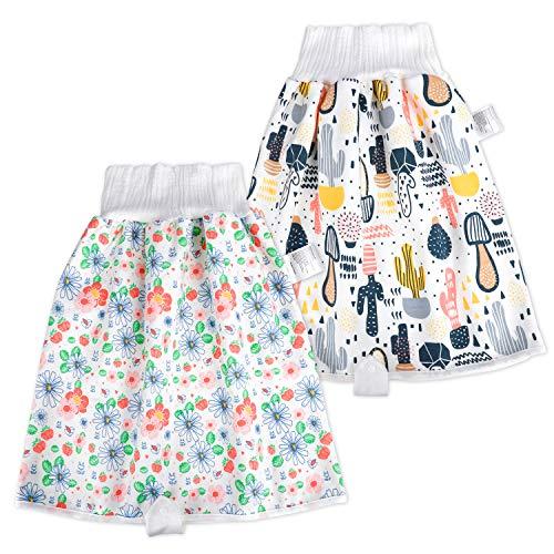 FLYISH DIRECT 2 Stück Baby Trainingshose Sleepy Windelhose High Waist Cotton Potty Underwear Windelunterwäsche für Töpfchentraining