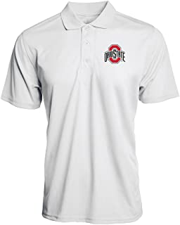 Elite Fan Shop Ohio State Buckeyes Piped Poly Mesh Polo