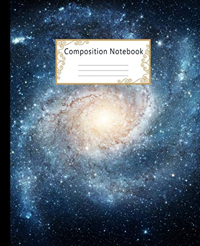 top 10 notebook composition notebook for Composition Note: Wide Paper Note Magazine: Space Galaxy Workbook for Boys…