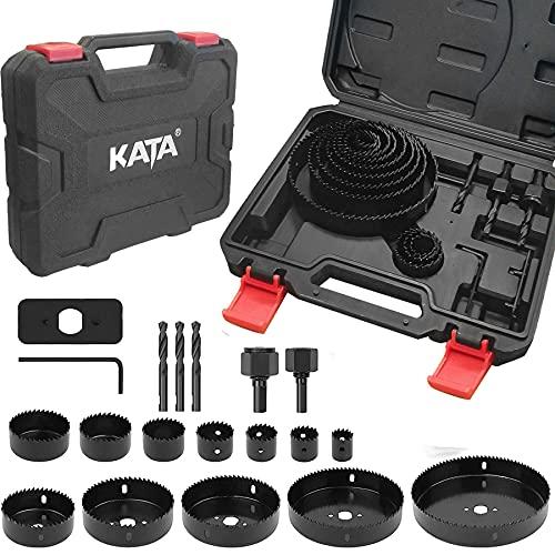 KATA Hole Saw Set 18-Piece Hole Saw Kit with 3/4