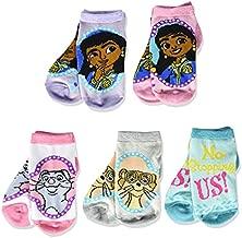 Disney Girls' Mira Royal Detective 5 Pack Shorty, Assorted Sherbert, Fits Sock Size 5-6.5 Fits Shoe Size 4-7.5