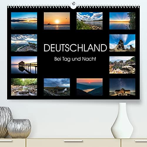 Deutschland - Bei Tag und Nacht (Premium, hochwertiger DIN A2 Wandkalender 2021, Kunstdruck in Hochglanz)