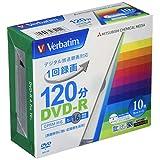 バーベイタムジャパン(Verbatim Japan) 1回録画用 DVD-R CPRM 120分 10枚 ホワイトプリンタブル 片面1層 1-16倍速 VHR12JP10V1