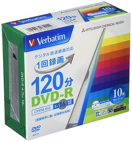 三菱ケミカルメディア Verbatim 1回録画用DVD-R(CPRM) VHR12JP10V1 (片面1層/1-16倍速/10枚)  B0041WF3XW 1枚目