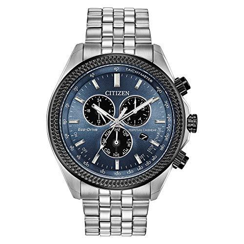 Men's Citizen Eco-Drive Brycen Chronograph Blue Black Watch BL5568-54L