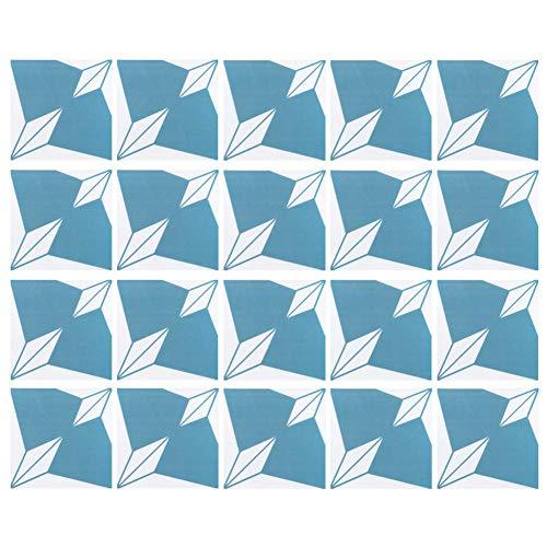 20 piezas duradero hogar impermeable pared suelo azulejo adhesivo autoadhesivo papel tapiz decoración 20x20 cm