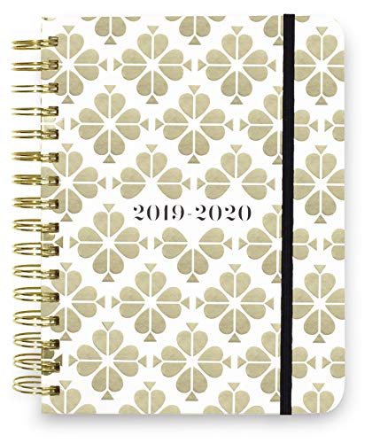 """Kate Spade New York 17 Month Large Hardcover 2019-2020 Daily Planner, Weekly and Monthly Planner with Stickers, Pocket Folder, Tab Dividers, 8"""" x 6.5"""", August 2019 - December 2020, Spade Flower"""