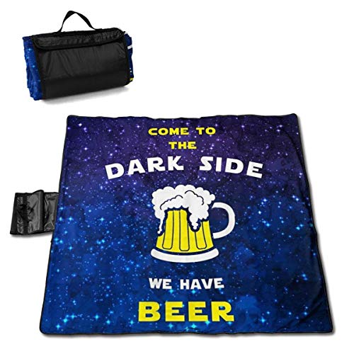 Picknickdecke kommt auf die dunkle Seite Wir haben Bier Picknickdecken Sand Proof und tragbare Strandmatte 145X150CM