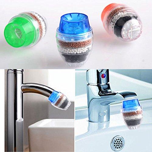 Asdomo Kitchen Carbon Faucet tap, Mini Home Coconut Carbon Cartridge Faucet Tap Water Clean Purifier Filter Water Clean Filter Faucet Tap Purifier Head Kitchen (Random)