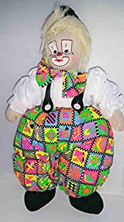 CLOWN BAGGY – 14 Inches Tall – Cotton Rag Doll – Earth Friendly with Natural Kapok Stuffing – Excellent Quality – Great Attention To Details – Removable, Soft Clothing - Safe And Fun For Kids