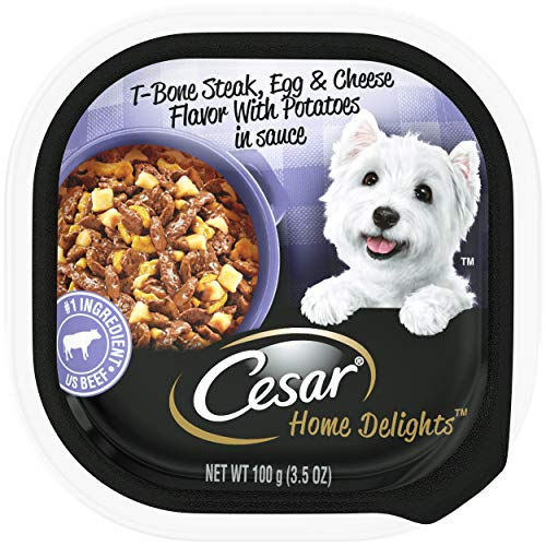CESAR Home Delights T-Bone Steak Flavor with Egg and Cheese