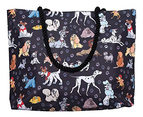 Disney Tote Travel Bag Dogs: Dalmatians Lady Tramp Copper Dodger All Over...