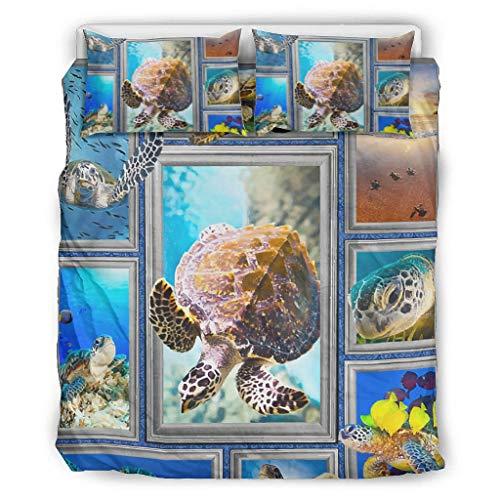 LIFOOST Duvet Ultra Soft Microfibre 3-Piece Duvet Cover Set for Home Lodge White 229 x 229 cm