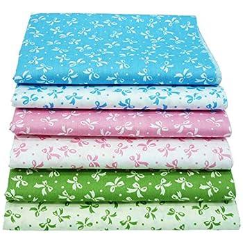6 pedazos de tela de algodón 40cm * 50cm,telas para hacer patchwork, telas tilda, retales de telas, tela algodon por metros: Amazon.es: Hogar