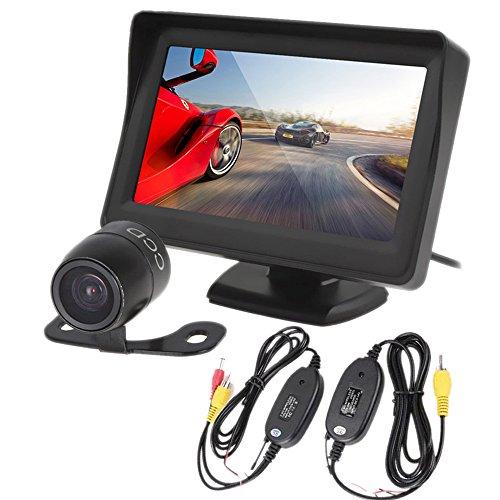 PolarLander 4.3 Pouce TFT LCD Vue Arrière de Voiture Moniteur Parking Caméra de Recul 2 en 1 Caméra de Recul Moniteur