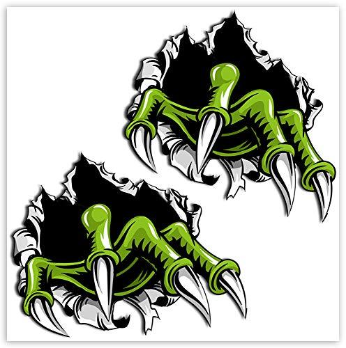SkinoEu® 1 Paar Vinyl Aufkleber Autoaufkleber Monster Kralle Tier Racing Rallye Stickers Auto Moto Motorrad Fahrrad Fenster Tür Tuning B 135