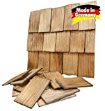 Tejas de techo, golpeado a mano, color nogal 200 Piezas 4x2,3x0,3cm...