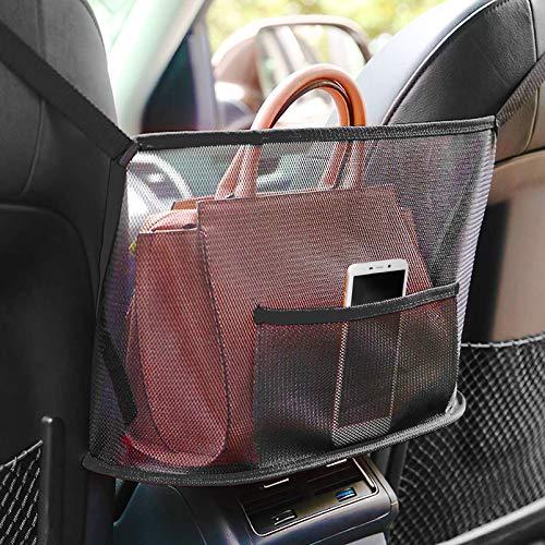 TaimeiMao Auto-Netztasche Handtaschen,Car Net Pocket Handbag,Auto Holder Handtaschen,Sitzlehne Net Bag,Multifunktionale Auto Aufbewahrungstasche,für Snacks/Wallets/Getränke/Handys Aufbewahren