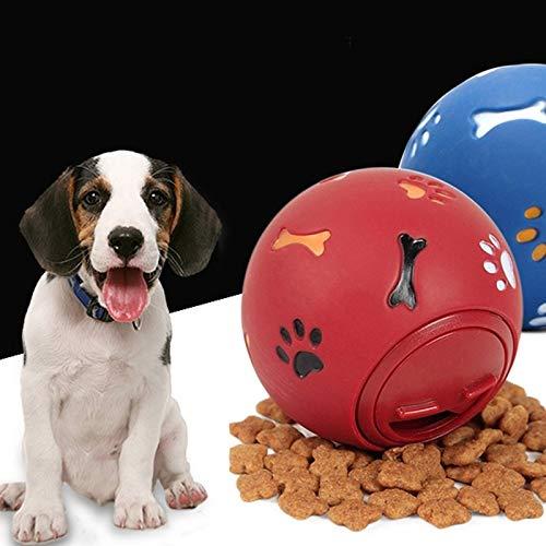 Hundespielzeug Kugel Ungiftiger Biss Resistant Spielzeug Ball, Hund Zahn-Reinigungs-Ball, Hund Pet Kauen Zahn-Reinigungs-Kugel-Haustier- Übung Spiel Trainingsball, Größe: M Huangchuxin (Color : Red)