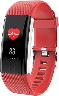 DLIBIG Pulsera de Actividad,Pulsera de Actividad Inteligente Reloj Pulsómetro Hombre Mujer Medidor Presión Arterial Reloj de Actividad Sueño IP67 Monitor de Ritmo Cardíaco,Red
